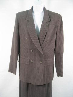 Kenar Dark Gray Knit Blazer Jacket Pants Suit Sz 4