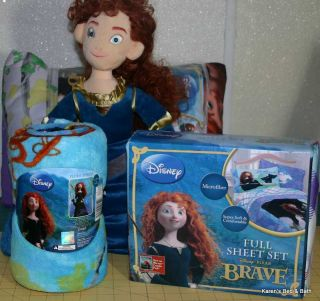 Disney Brave Merida Girls Twin Full Bedding Comforter Sheets Pillow