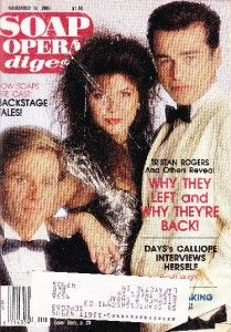 Soap Opera Digest November 18 1986 Tristan Rogers Finola Hughes Ian