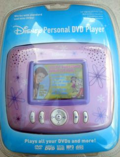 Disney Flower Princess Personal DVD Player 3 5 LCD New