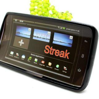Black TPU Silicone Skin Back Case Cover for Dell Streak Mini 5