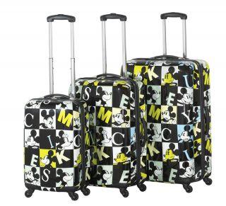 Heys USA 4WD Disney Mickey Squares 3pc Spinner Luggage Set