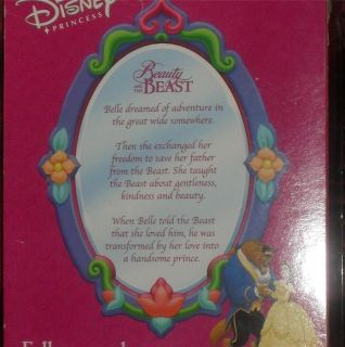 Disney BELLE Porcelain PRINCESS Keepsake DOLL Brass Key 16 2002