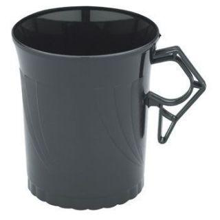 Plastic Coffee Cups Black Newbury 8 Pack 12477
