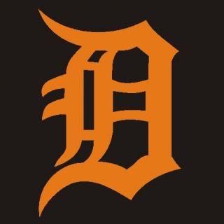 Detroit Tigers Decal Vinyl Sticker Orange 5 5 20H