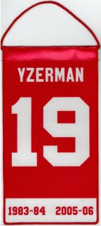 Seve Yzerman Deroi Red Wings Mini Reiremen Banner