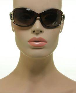 DG Eyewear Brown Frame Oval Vented Split Design Hot Fashion Sunglasses