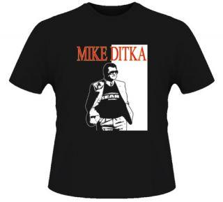 Mike Ditka Chicago Football Legend Retro Black T Shirt