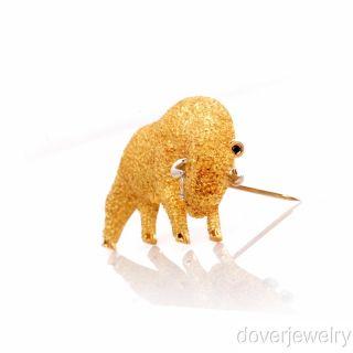 Henry Dunay Platinum & 18K Gold Bull Pin Brooch