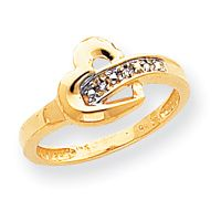 New 14k Gold Diamond Heart Ring 1 100 Carat Available in Multiple