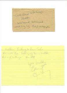 Super Rare Star Wars Autograph Carole Read ROTJ Ewok Died 2004 Cut