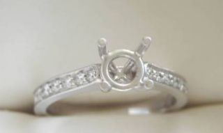 Diamond Semi Mount Engagement Ring Designer Mounting Platinum Gold