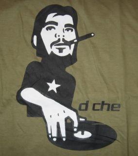 DJ Che Guevara Graffiti Stencil T Shirt M L Red Green
