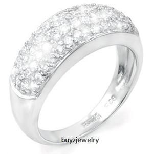 Carats TW Created White Diamond Micro Pave Dome Setting Ring Size 9