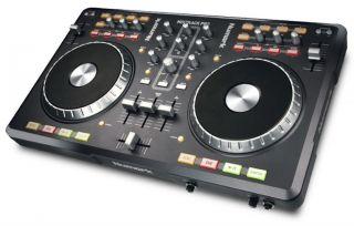Numark Mixtrack Pro DJ Controller w Crane Stand Basic White Laptop