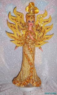 bob mackie goddess of the sun barbie gently displayed