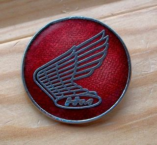HONDA red pin badge Biker Rocker 59 Cafe Racer motorcycle AHRMA