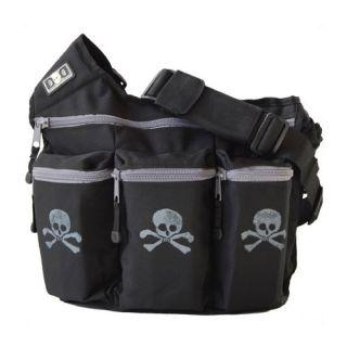 Diaper Dude Black Skull Cross Bones Diaper Bag 100S