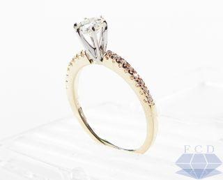 40 ctw round diamond engagement ring 14k yellow gold