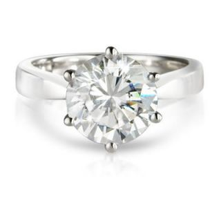 Diamond Solitaire Ring 9K White Gold Engagement Ring