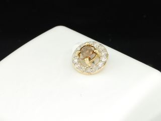 Brown Champagne Diamond Solitaire Pendant Charm for Necklace