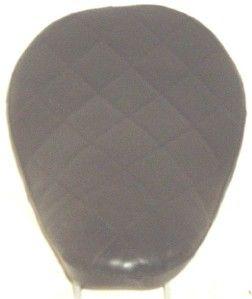 Solo Seat Black Diamond Leather 9 3 Flat Black Springs Bobber
