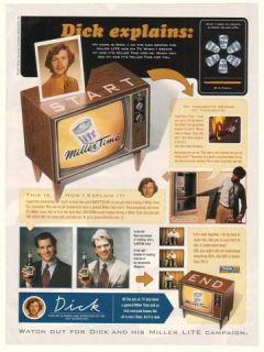 1997 miller lite beer dick explains tv ads ad