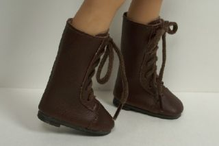 DK Brown Laceup Boots Doll Shoes for Dianna Effner 13 Vinyl♥