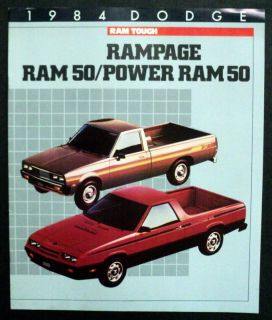 Dodge 1984 Rampage RAM 50 Power RAM 50 Pickup Truck Brochure Canada