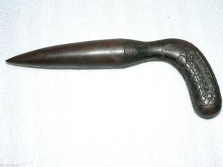 RARE ANTIQUE Dibber Dibble Dibbler Planting Tool Cast Iron WILLIAM