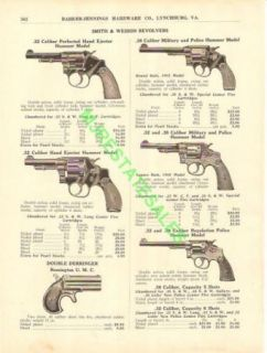1917 Smith Wesson Pistol Remington Derringer Ad