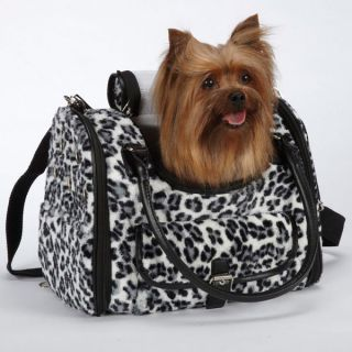 Zoey Animal Print Pet Purse Carriers Snow Leopard Dog Carrier