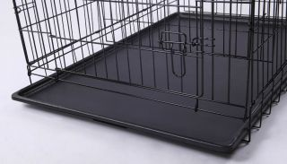 30 36 42Folding Pet Dog Metal Crate Cage w Divider
