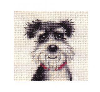 Miniature Schnauzer Dog Puppy Complete Counted Cross Stitch Kit