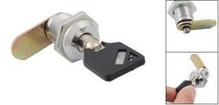 18mm Thread Tubular Key Round Cam Lock for Cabinet Desk Drawer