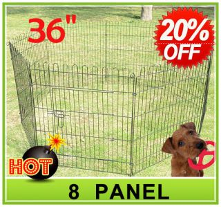 36 8 panel Pet Dog Cat Exercise Pen Playpen Fence Yard Kennel Portable