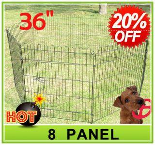 36 8 panel Pet Dog Cat Exercise Pen Playpen Fence Yard Kennel Portable