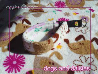 Dog Paw Daisy Print Cuddle Fleece Martingale Italian Greyhound Whippet