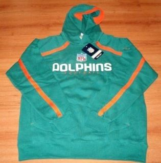 Miami Dolphins Hoodie 2XL Authentic Sideline Reebok