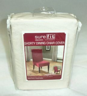 Fit Slipcovers Short Dining Room Duck Chair Cover Natural New