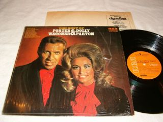 Porter Wagoner Dolly Parton The Best of 1971 Country LP VG Vinyl