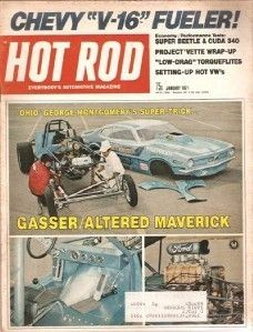 January 1971 Hot Rod Don The Snake Prudhomme Mario Andretti Mexican