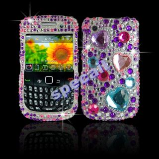 NEW Crystal Bling diamond Hard Case Cover For Blackberry 8520 8530