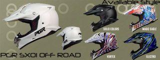 Black Motocross MX Off Road Dirt Bike Buggy ATV Quad Dot Helmet