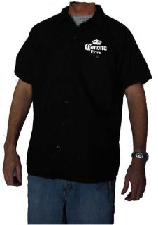 Corona Beer Mechanic Work Shirt New Short Sleeve Button Up