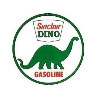Sinclair Dino Gasoline 12 Round Tin Metal Sign New