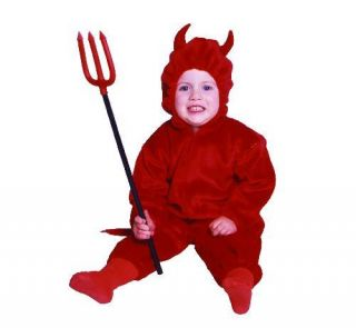 Baby Toddler Little Red Devil Halloween Costume Pajama