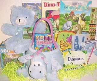 New Dinosaur Toy Easter Basket Dinosaur Toys Books Gift
