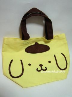 Japan Sanrio Original Pompompurin Pom Pom Purin Dog Hand Bag Handbag