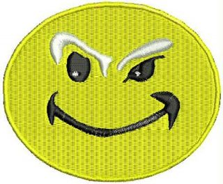 Devious Face New Sew on Patch Embroidered Iron on Patch Biker Patches